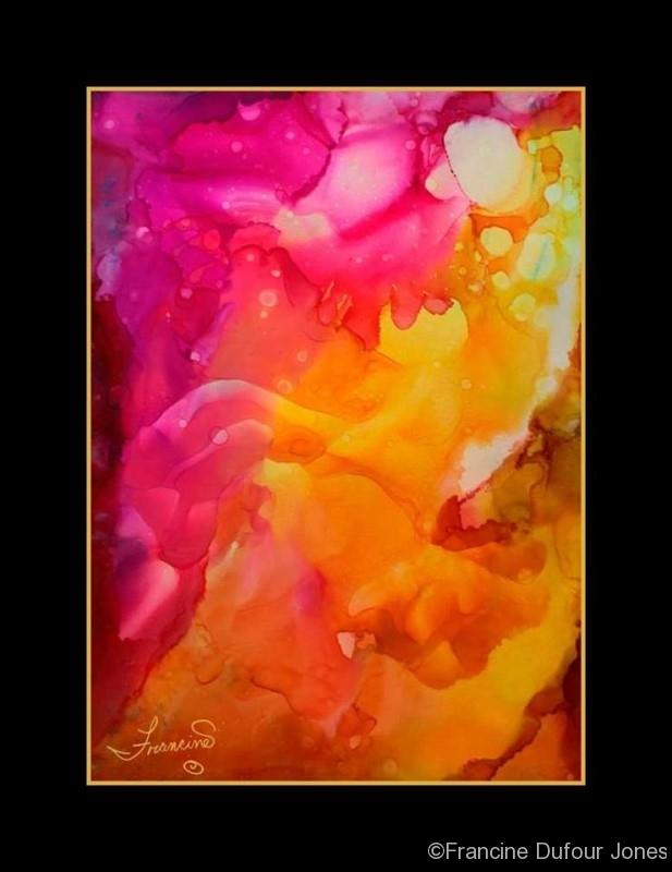 Orange Joy Abstract