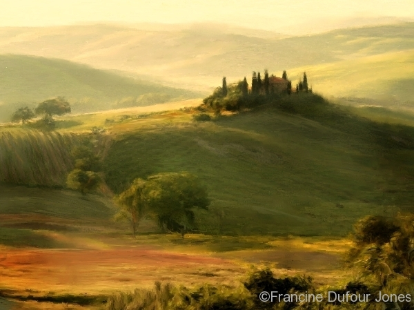 Tuscany Glow a digital painting by Francine Dufour Jones